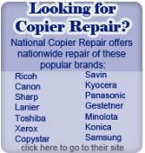 National Copier Repair - Provides nationwide copier repair service